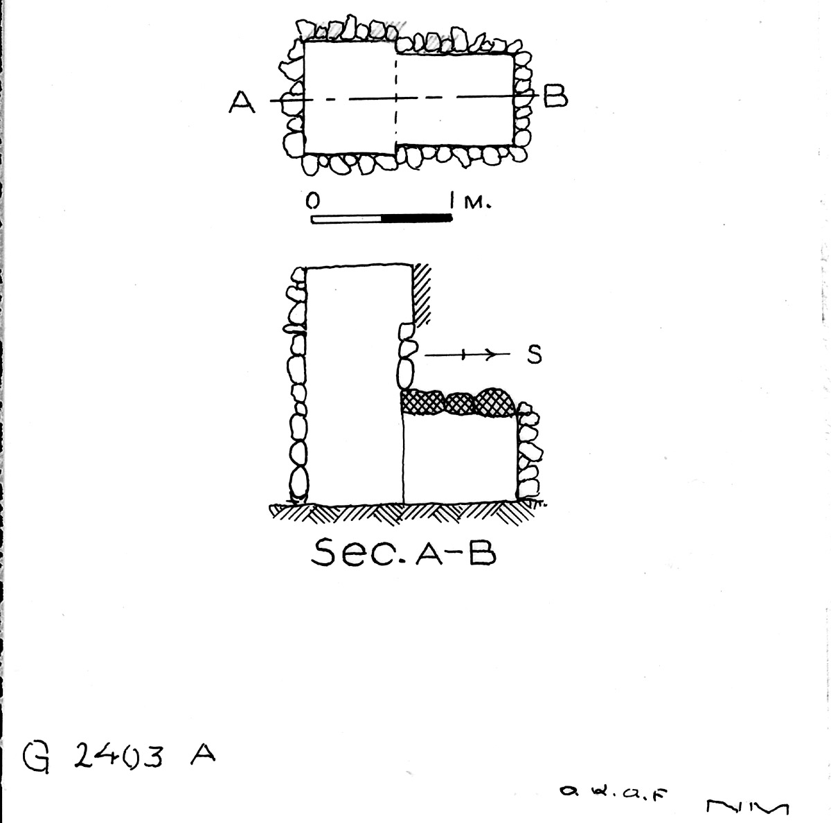 Maps and plans: G 2403, Shaft A