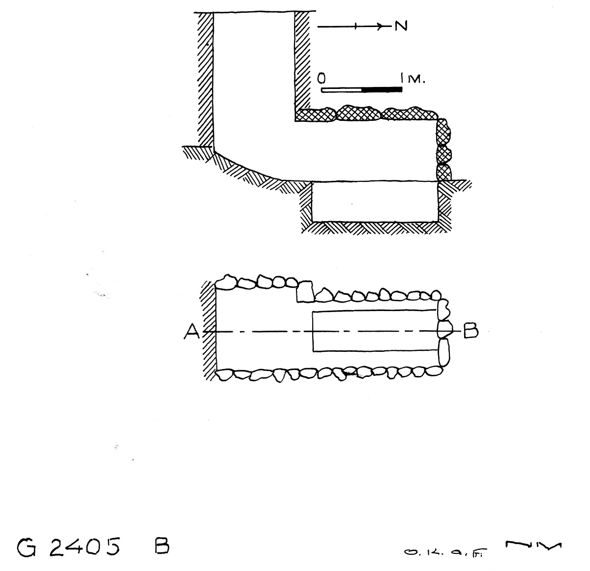 Maps and plans: G 2405, Shaft B