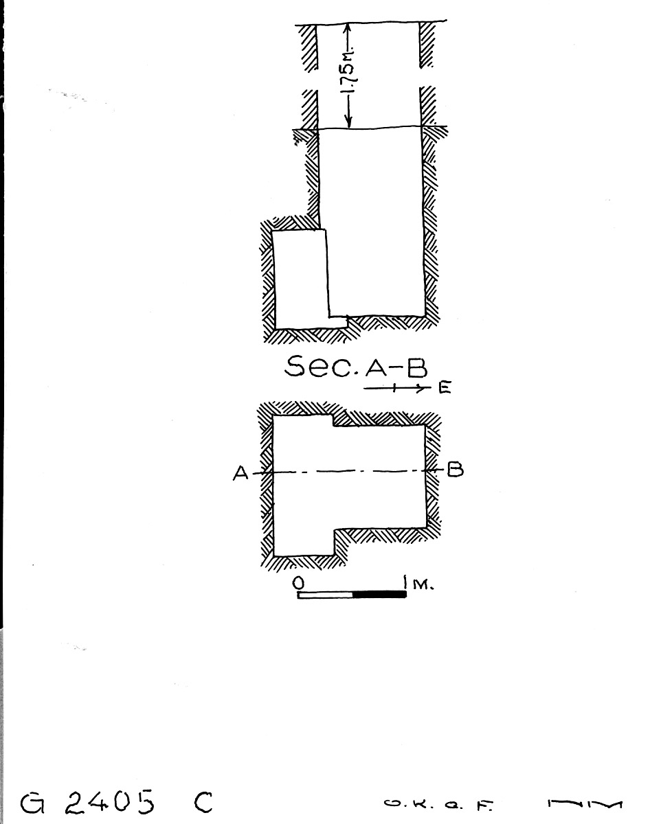 Maps and plans: G 2405, Shaft C