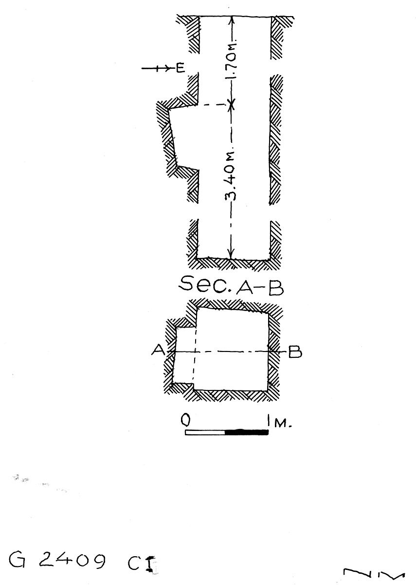 Maps and plans: G 2409, Shaft C (I)