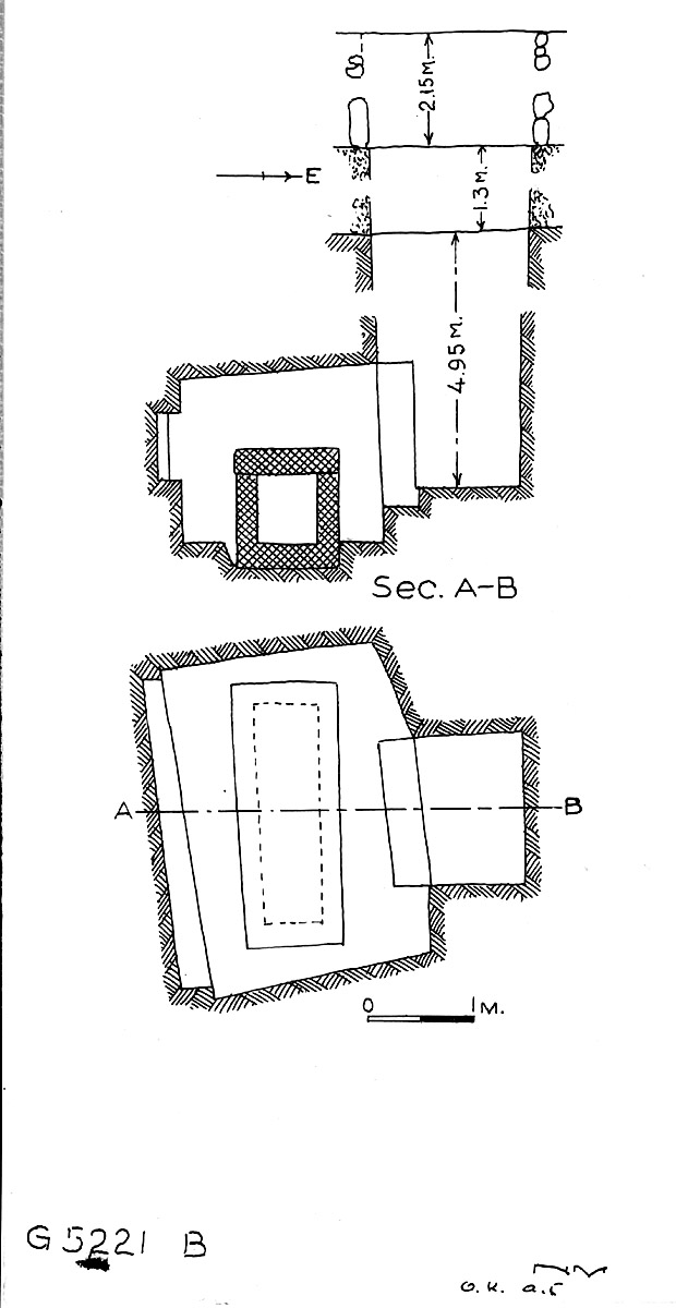 Maps and plans: G 5221, Shaft B