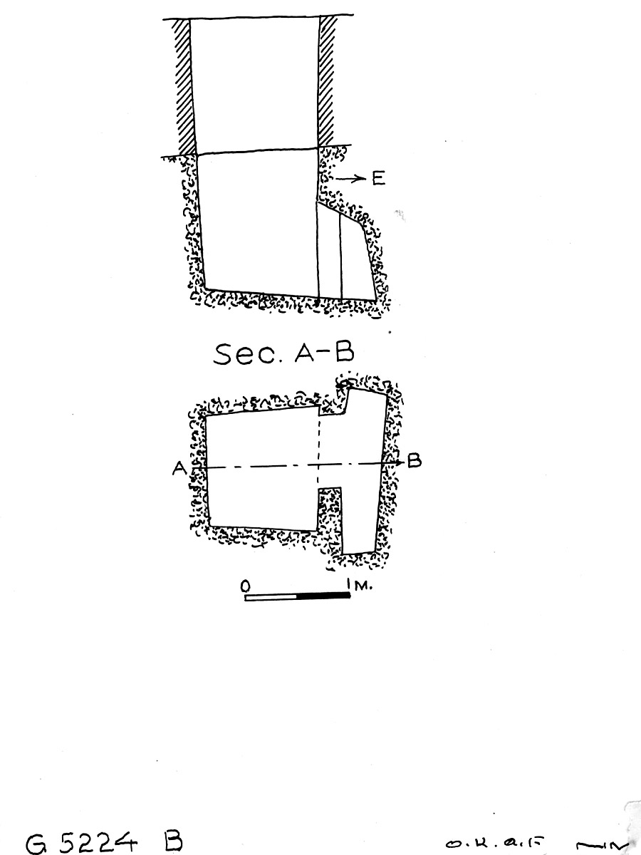 Maps and plans: G 5224, Shaft B