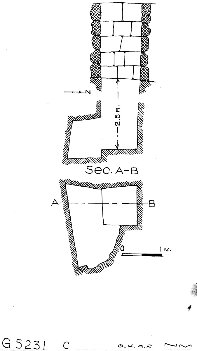 Maps and plans: G 5231, Shaft C