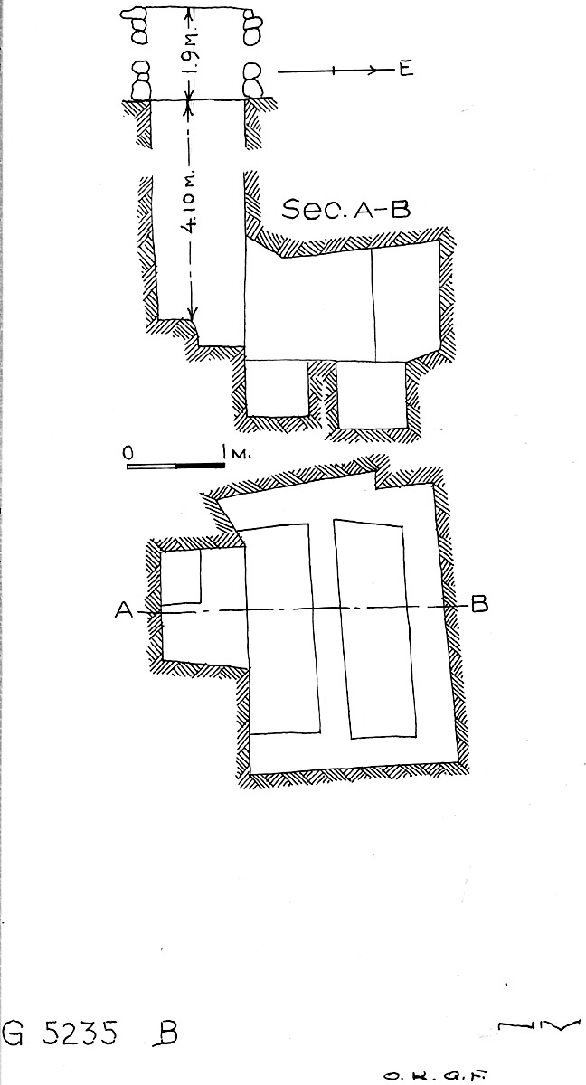 Maps and plans: G 5235, Shaft B