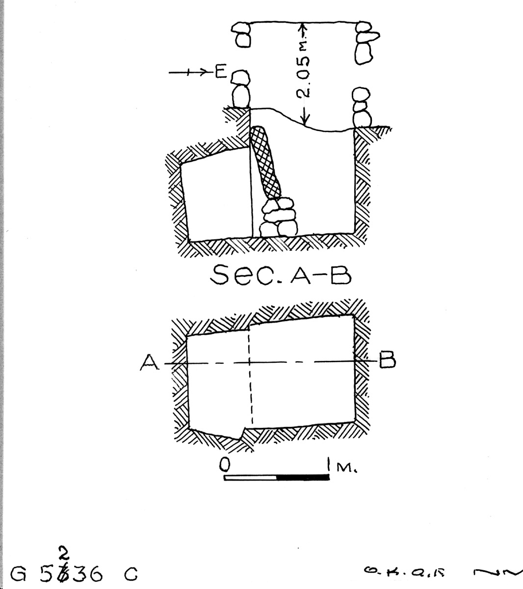 Maps and plans: G 5236, Shaft C