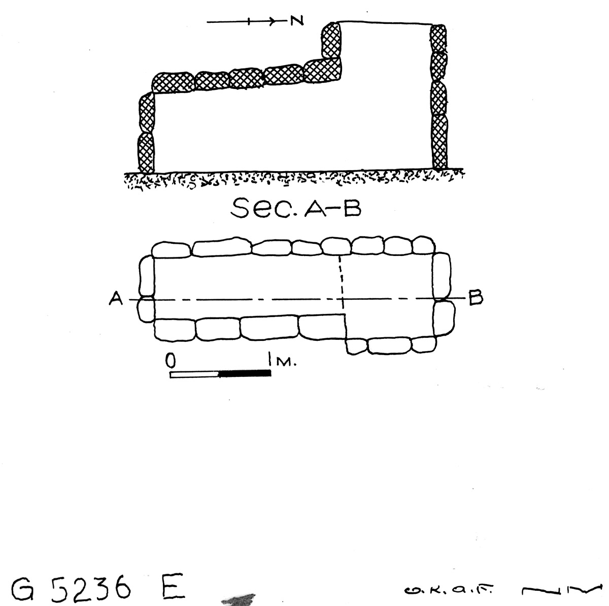 Maps and plans: G 5236, Shaft E