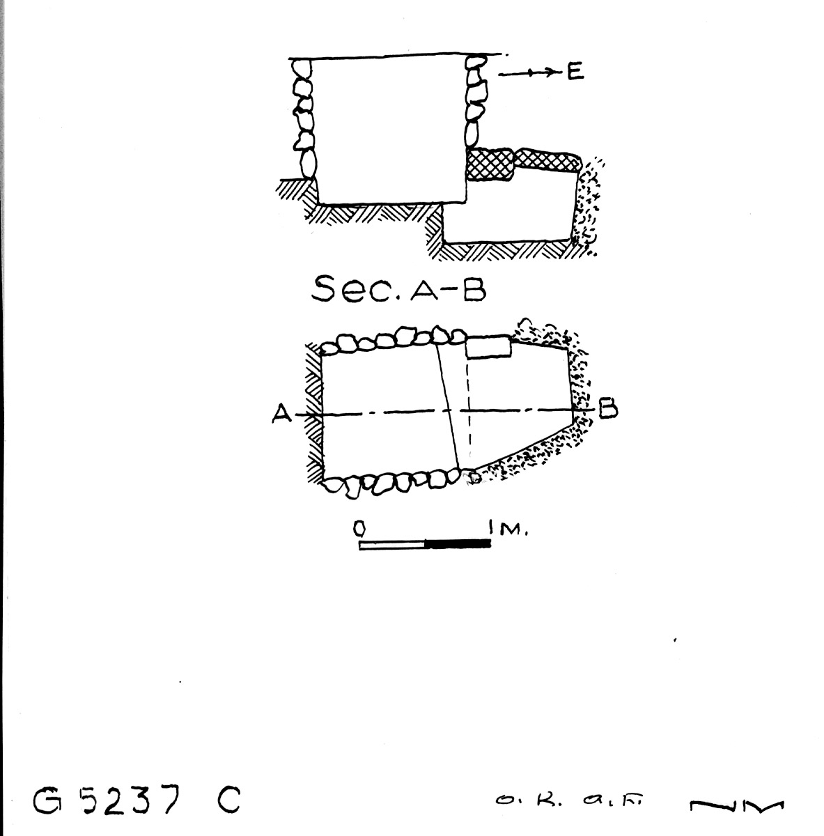 Maps and plans: G 5237, Shaft C