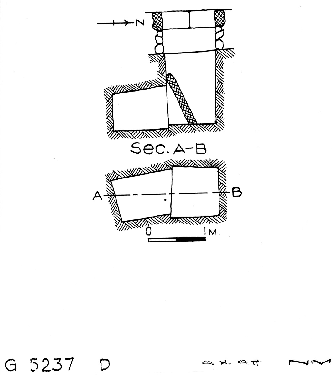 Maps and plans: G 5237, Shaft D