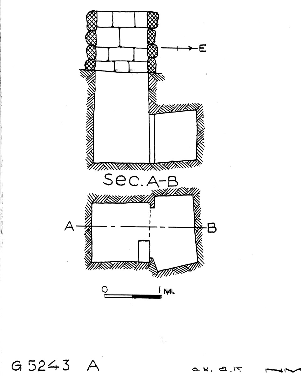 Maps and plans: G 5243, Shaft A
