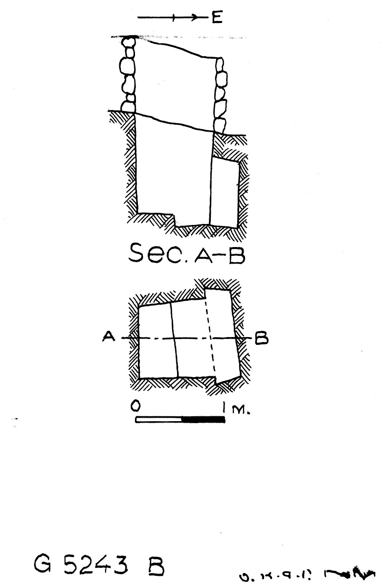 Maps and plans: G 5243, Shaft B