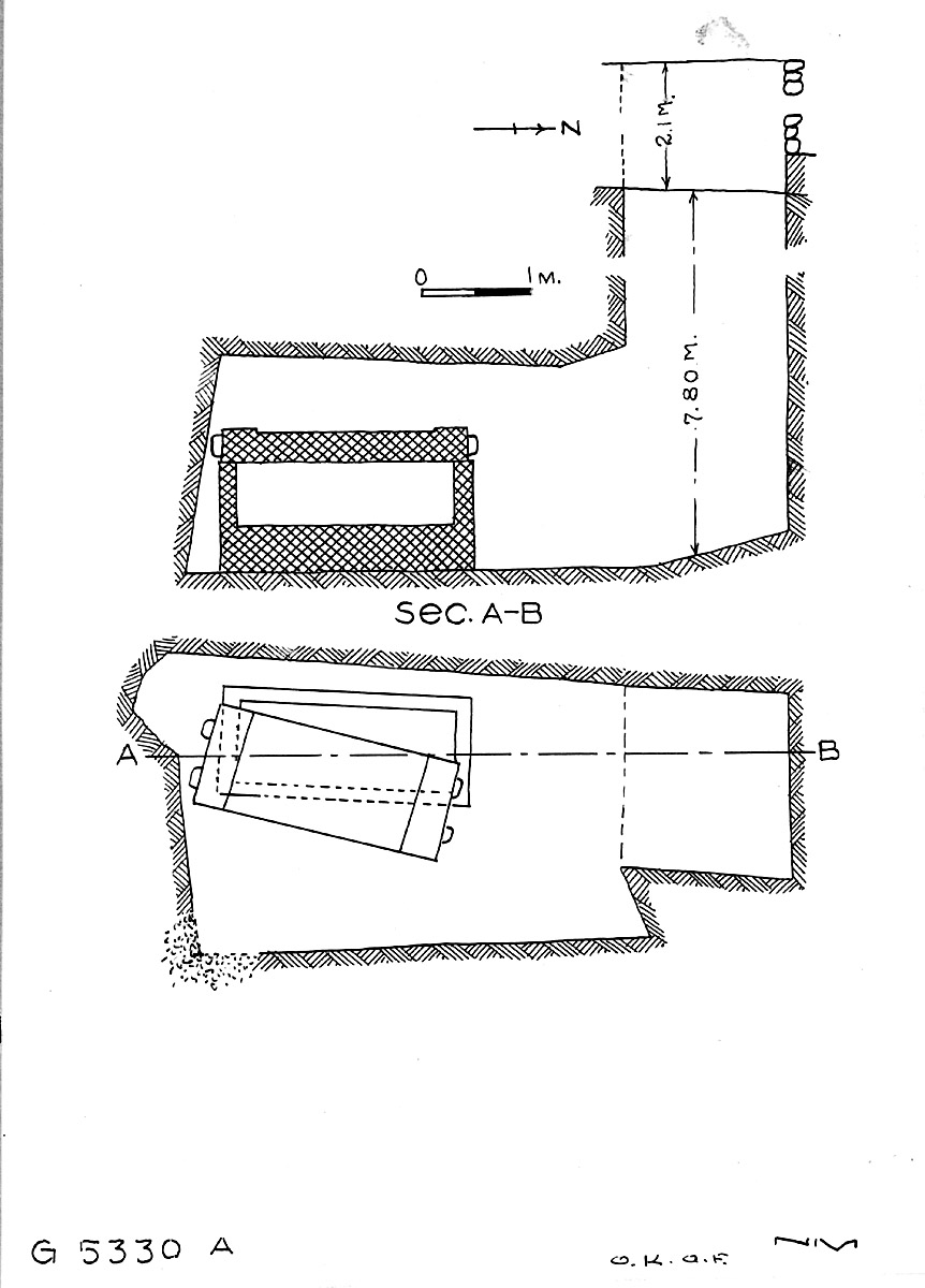 Maps and plans: G 5330, Shaft A