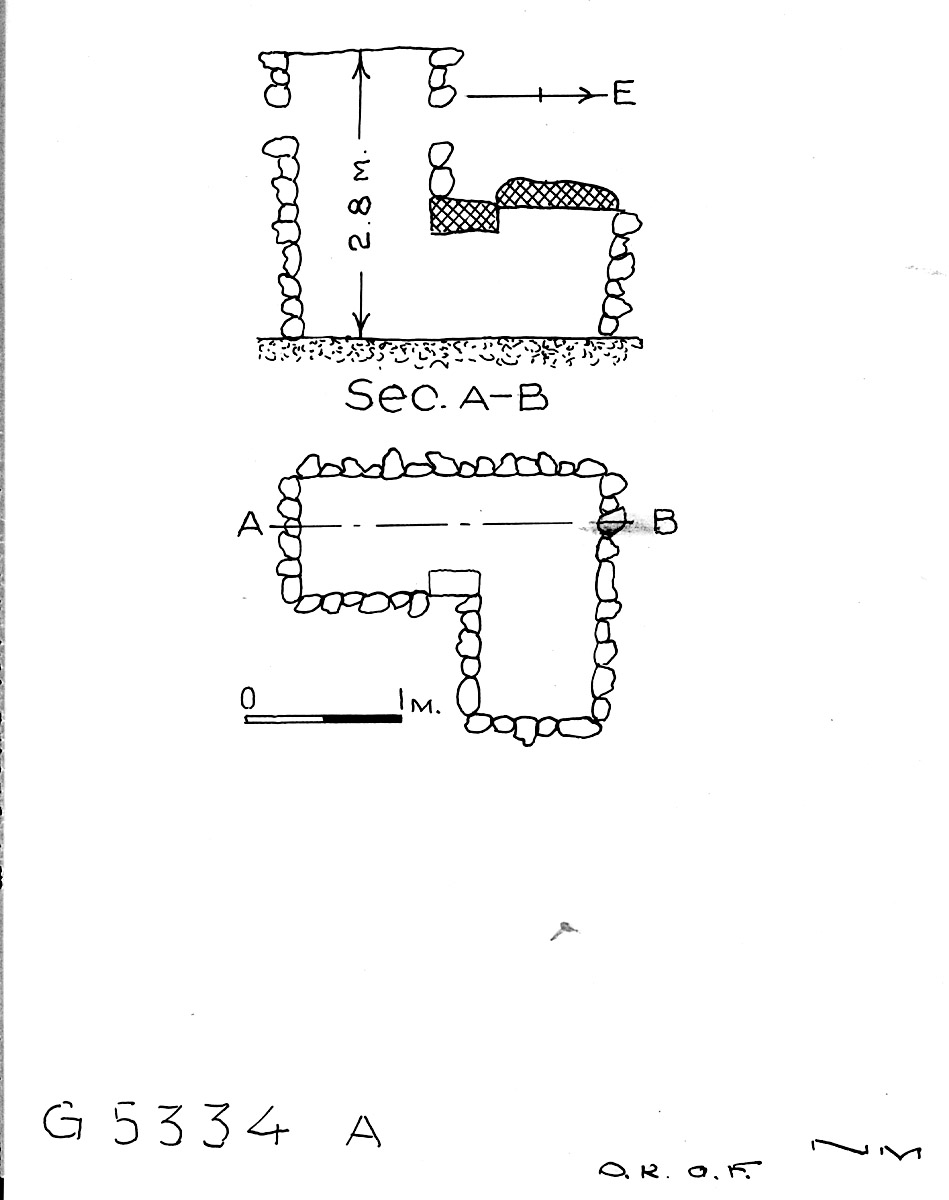 Maps and plans: G 5334, Shaft A (S 806)