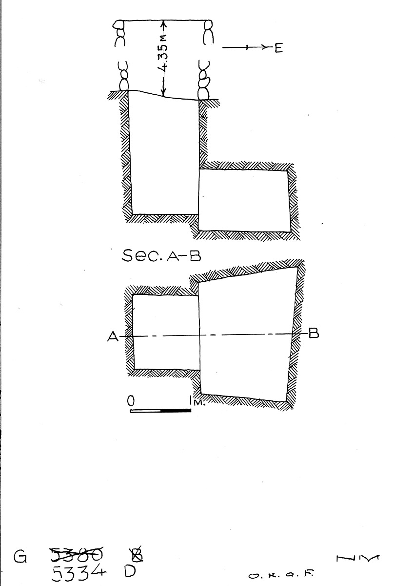 Maps and plans: G 5334, Shaft D