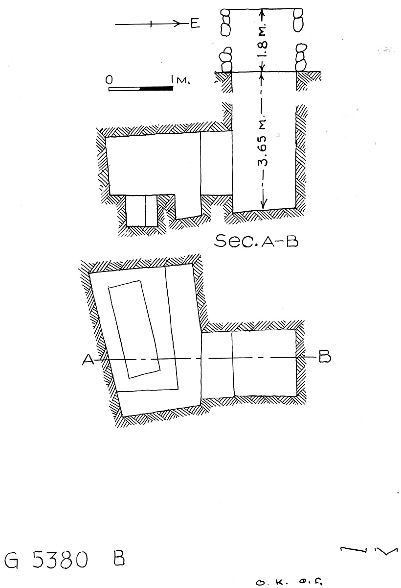 Maps and plans: G 2330 = G 5380, Shaft B