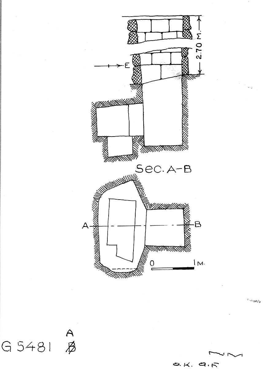 Maps and plans: G 5481, Shaft A