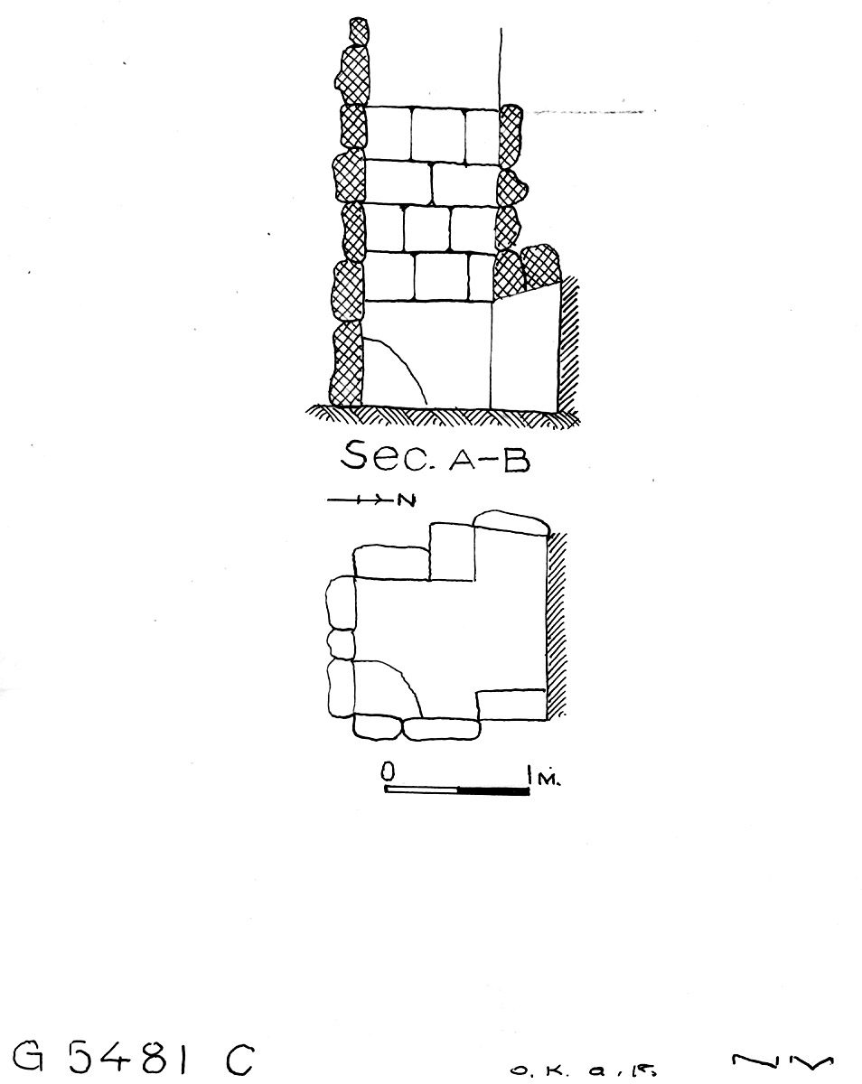 Maps and plans: G 5481, Shaft C