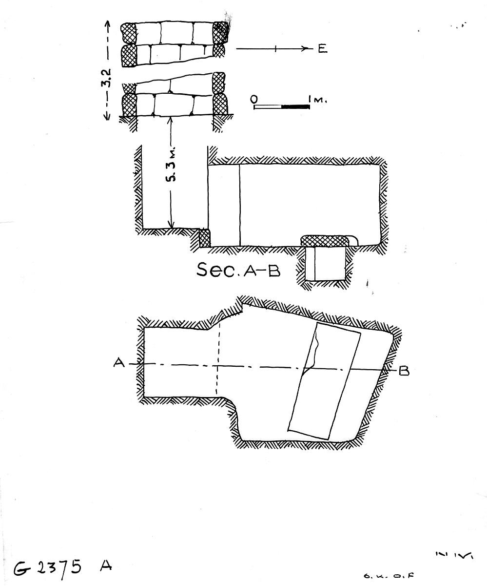 Maps and plans: G 2375, Shaft A