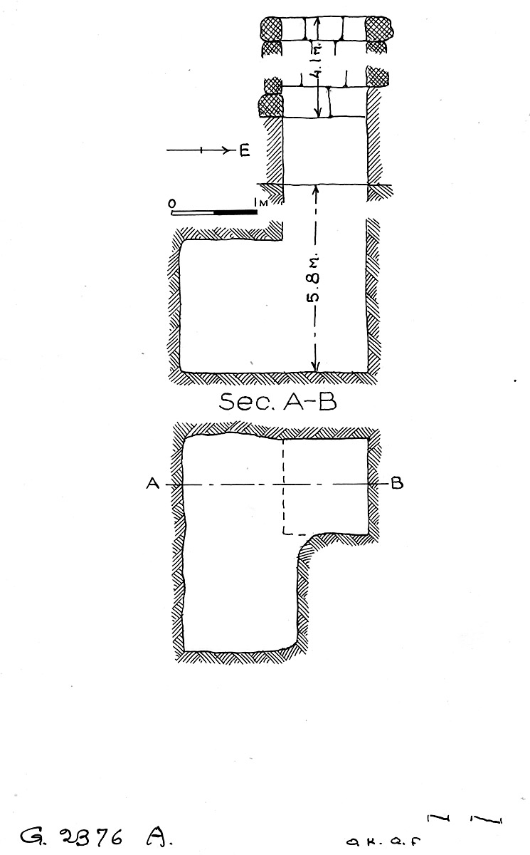 Maps and plans: G 2376, Shaft A