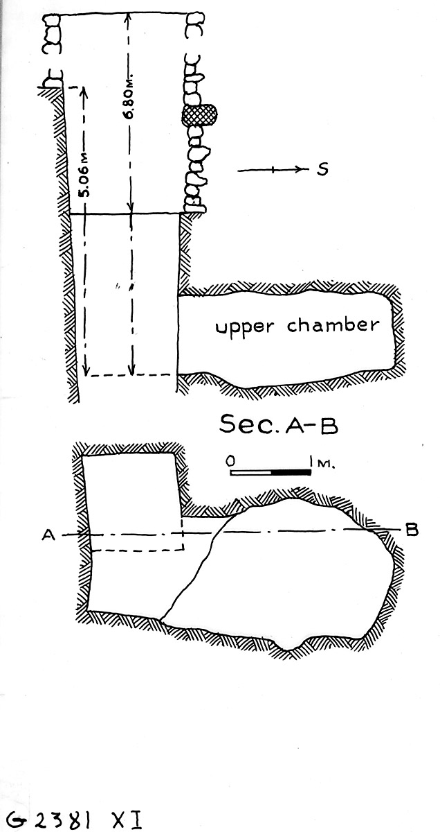Maps and plans: G 2381, Shaft X (I)