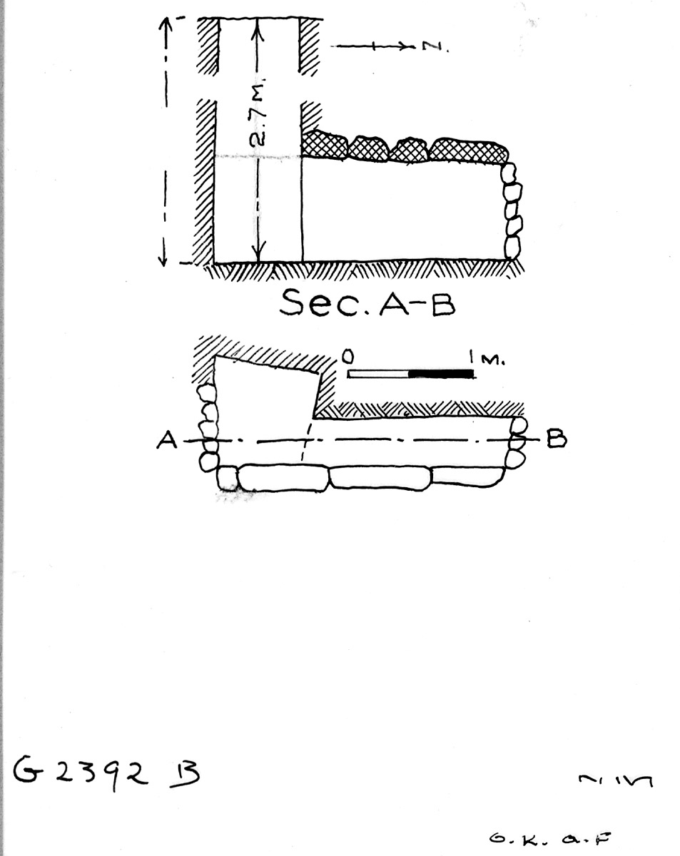 Maps and plans: G 2392, Shaft B