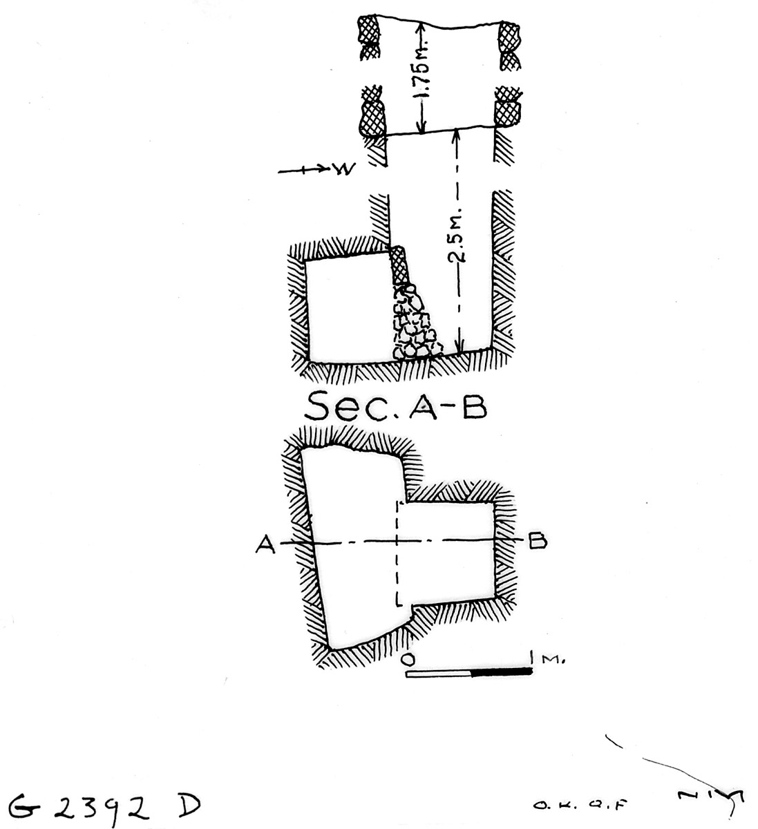 Maps and plans: G 2392, Shaft D