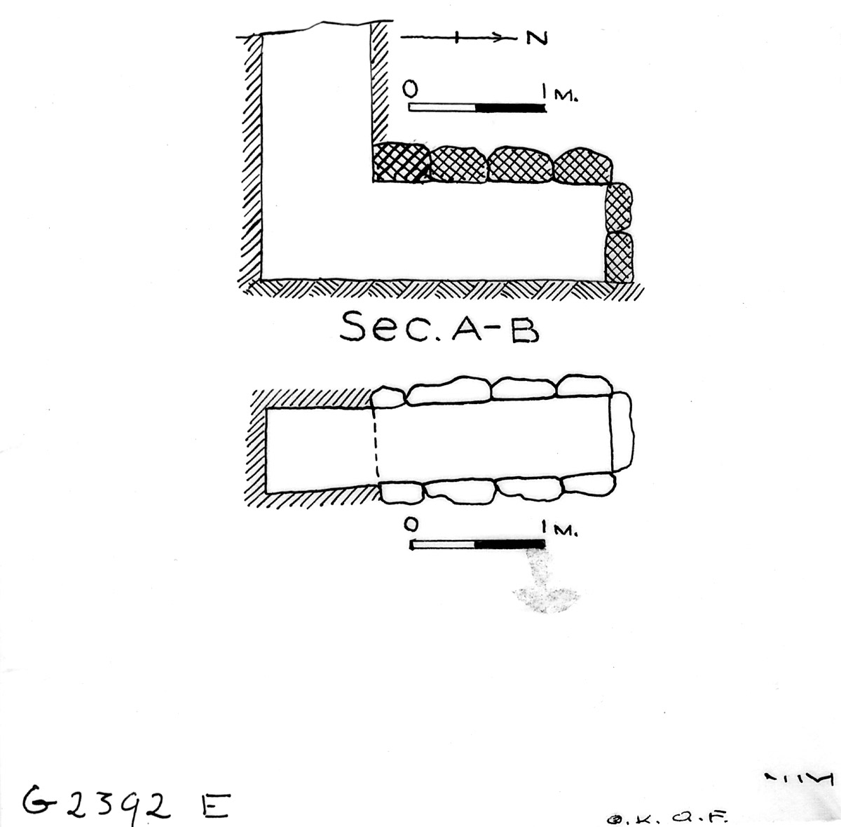 Maps and plans: G 2392, Shaft E