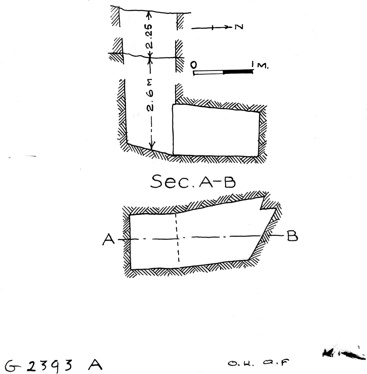 Maps and plans: G 2393, Shaft A