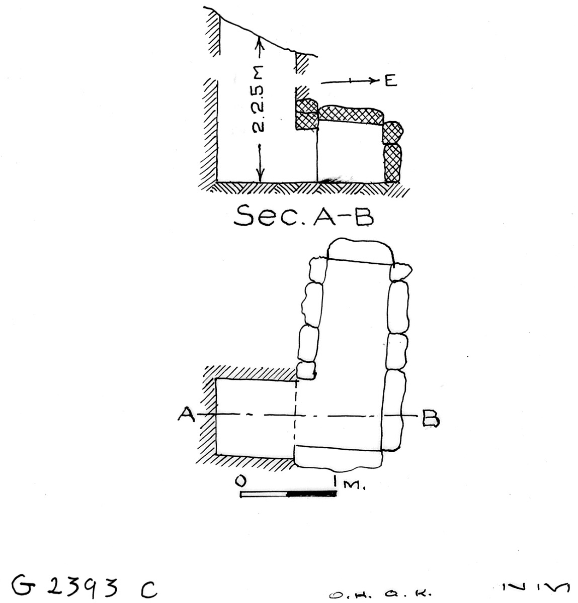 Maps and plans: G 2393, Shaft C