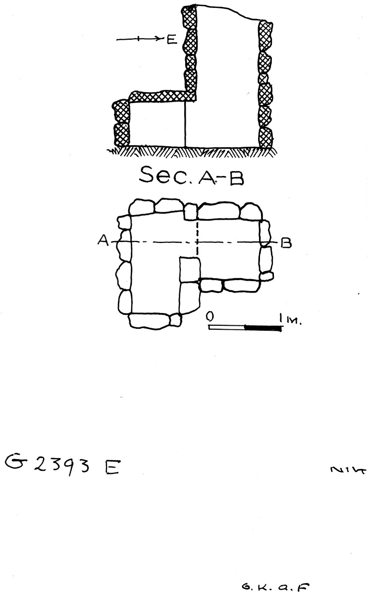Maps and plans: G 2393, Shaft E
