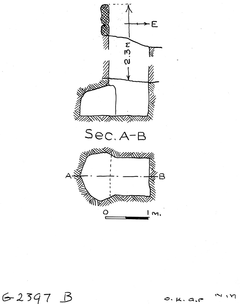 Maps and plans: G 2397, Shaft B