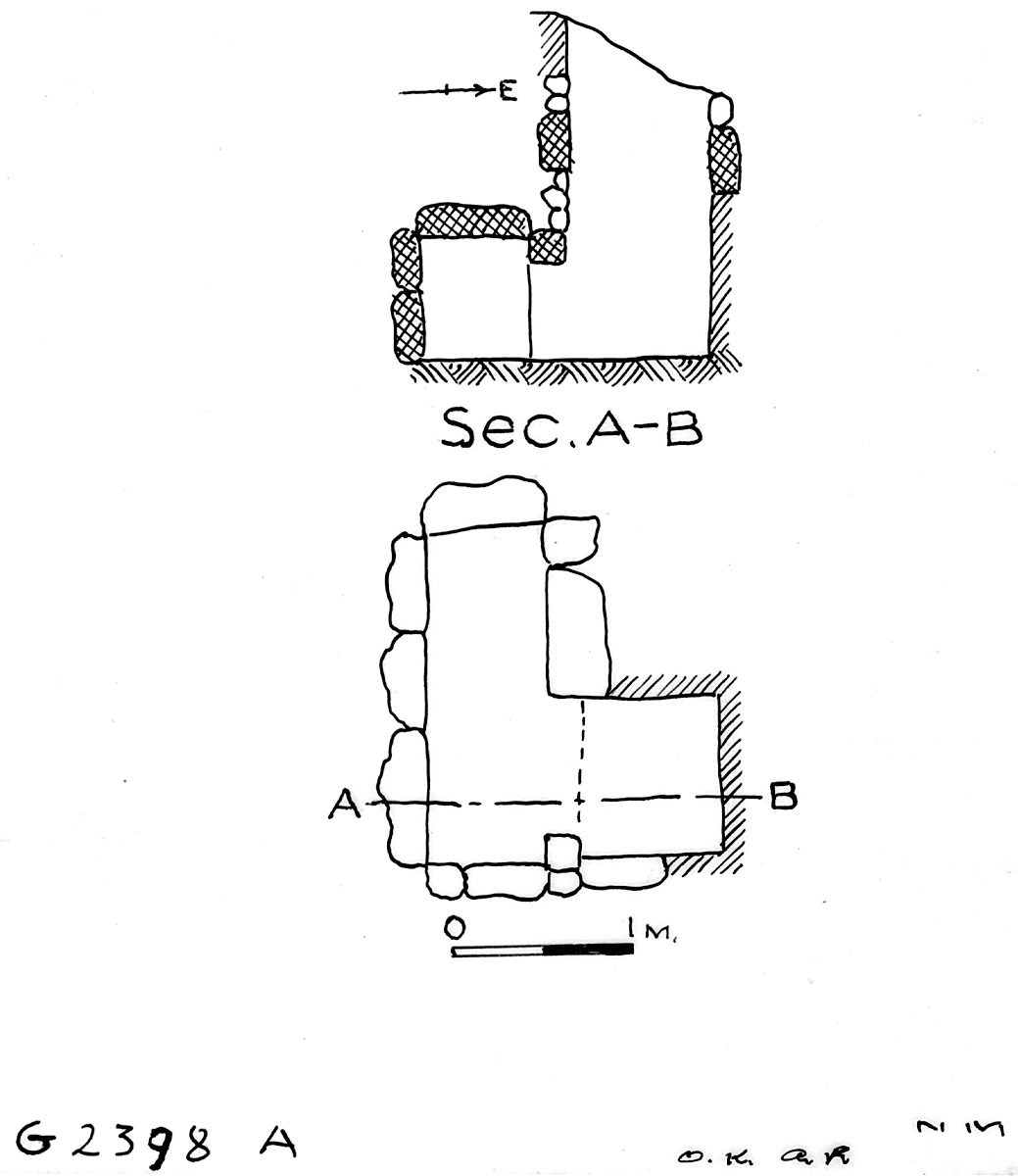 Maps and plans: G 2398, Shaft A