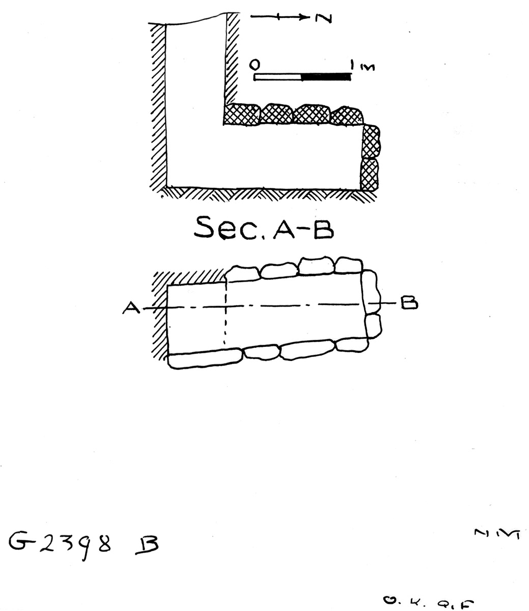 Maps and plans: G 2398, Shaft B