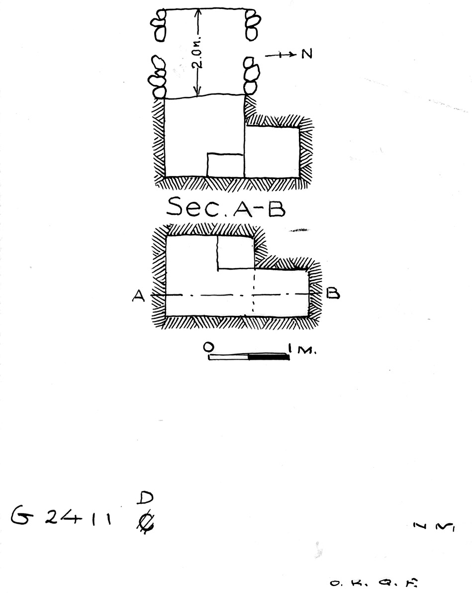 Maps and plans: G 2411, Shaft D
