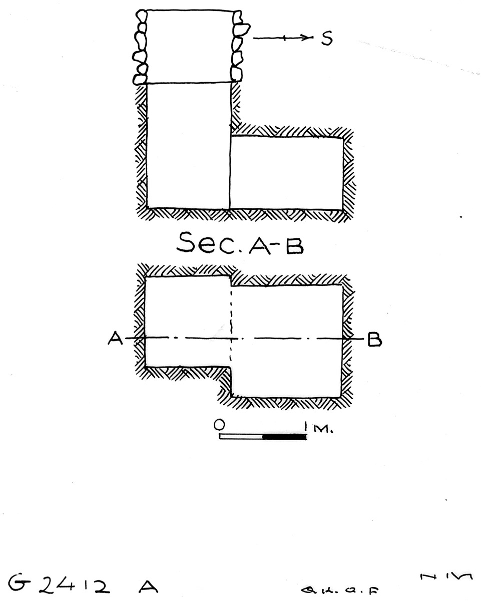 Maps and plans: G 2412, Shaft A
