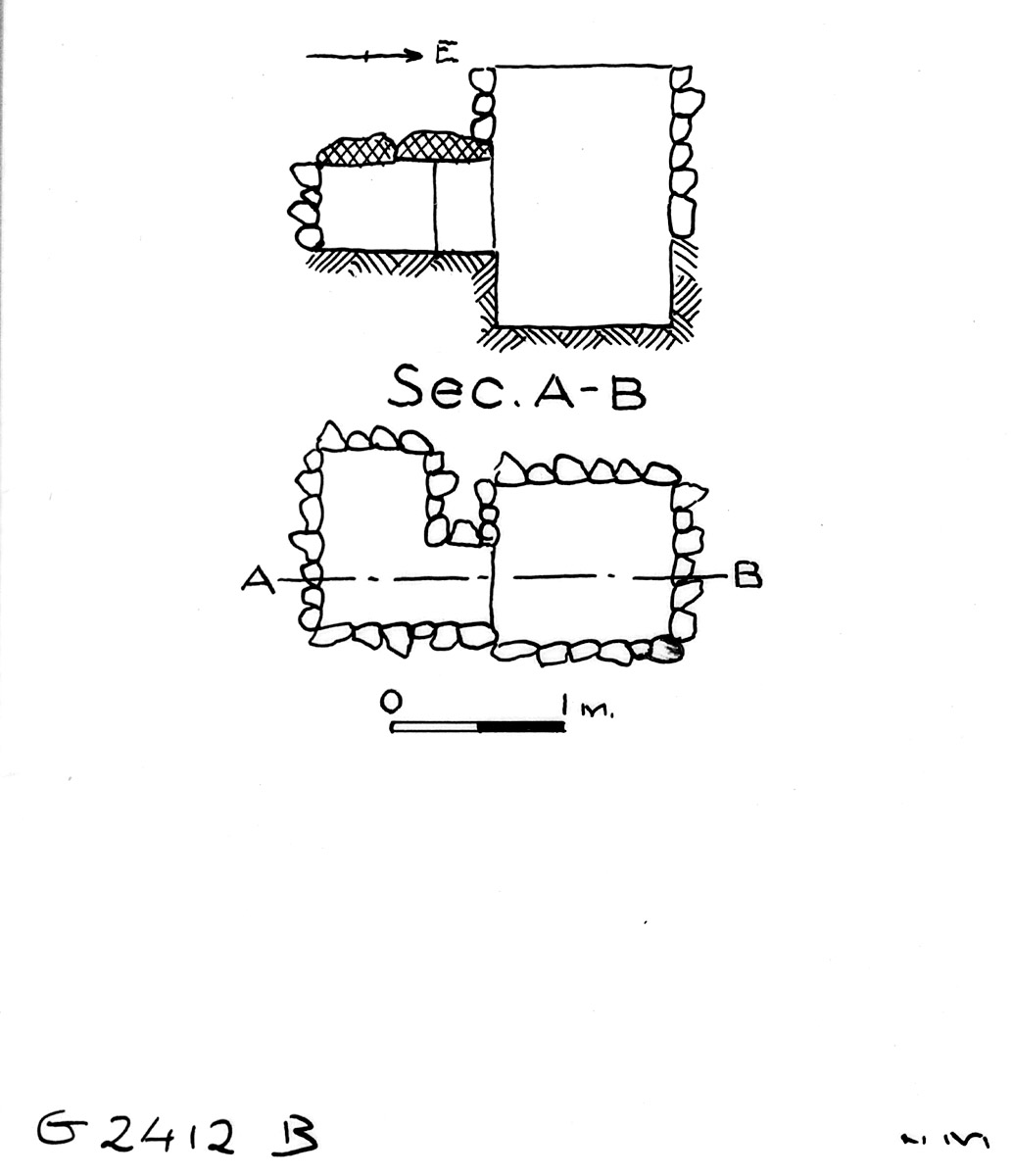 Maps and plans: G 2412, Shaft B