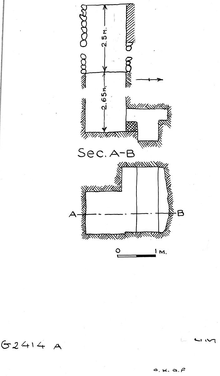 Maps and plans: G 2414, Shaft A