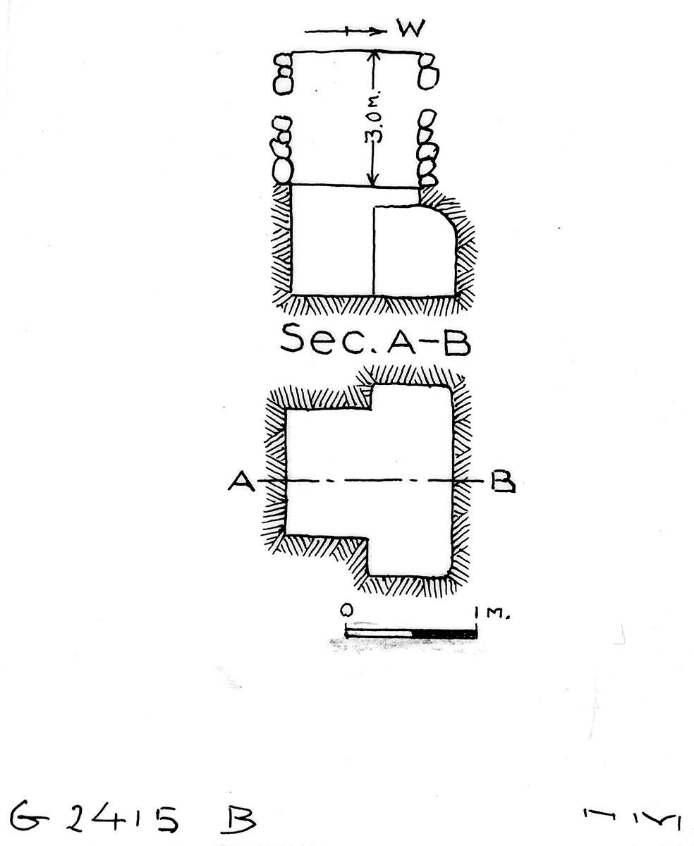 Maps and plans: G 2415, Shaft B