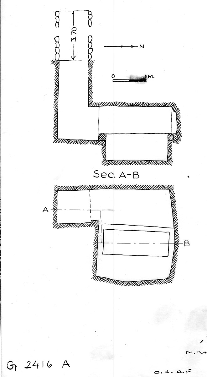 Maps and plans: G 2416, Shaft A