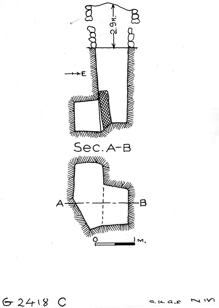 Maps and plans: G 2418, Shaft C