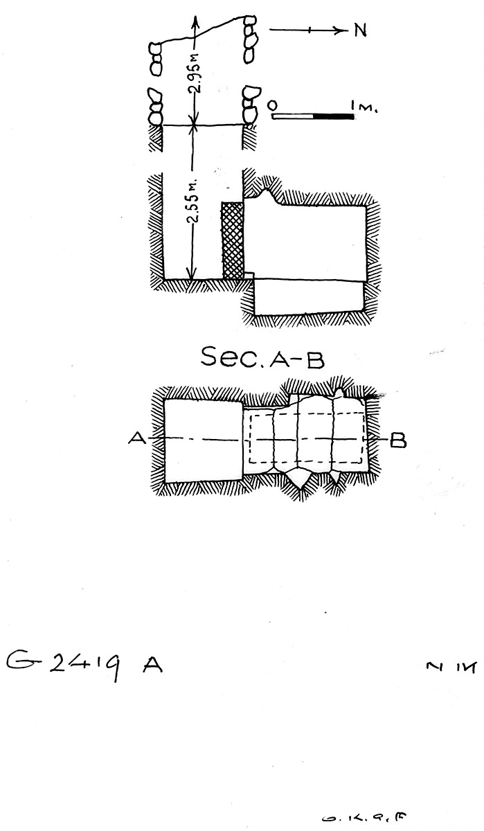 Maps and plans: G 2419, Shaft A