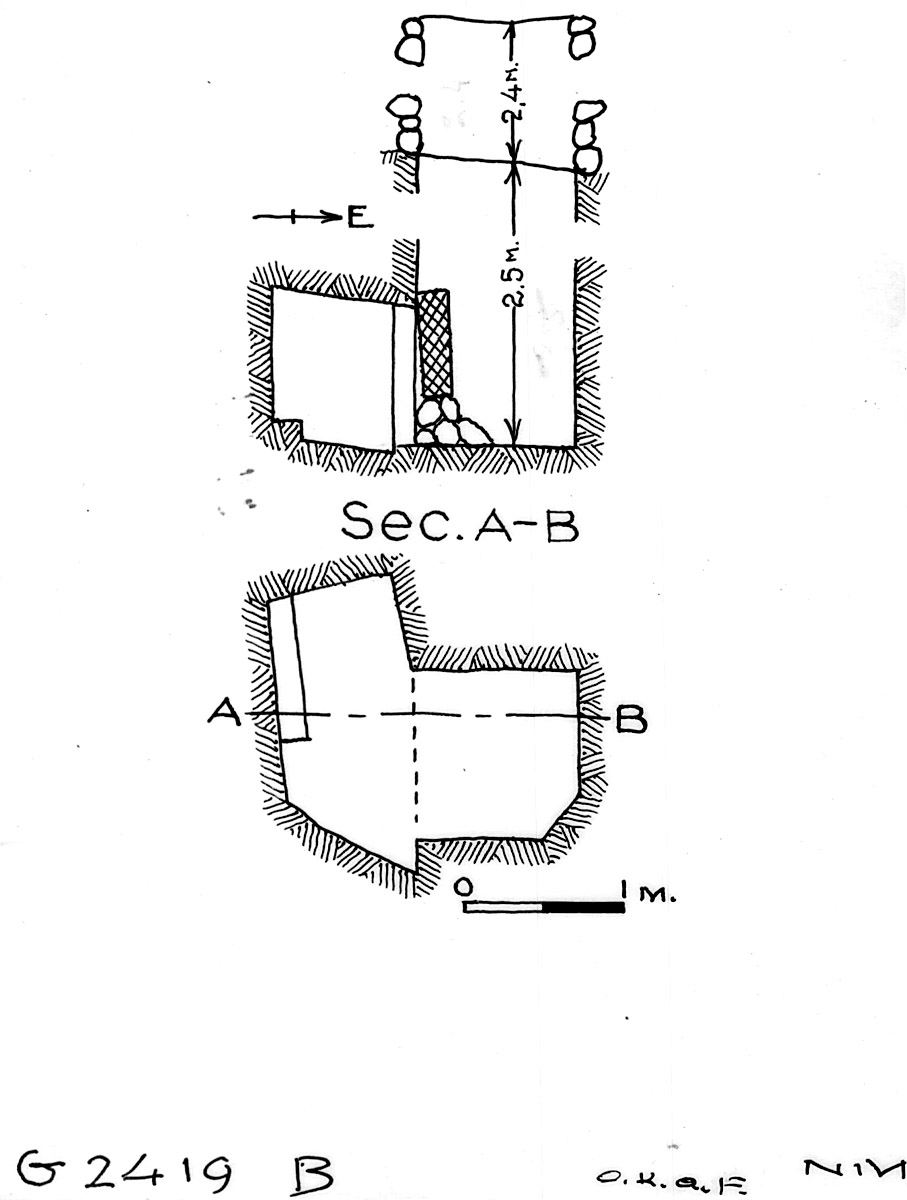 Maps and plans: G 2419, Shaft B