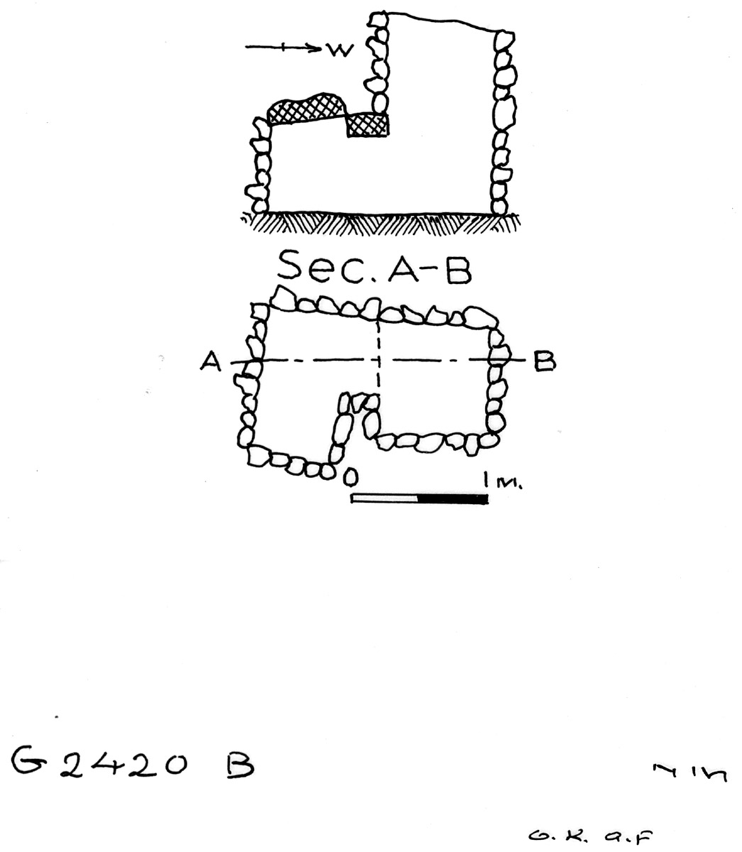 Maps and plans: G 2420, Shaft B