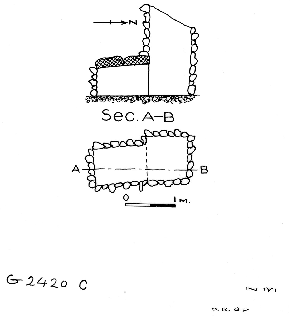 Maps and plans: G 2420, Shaft C