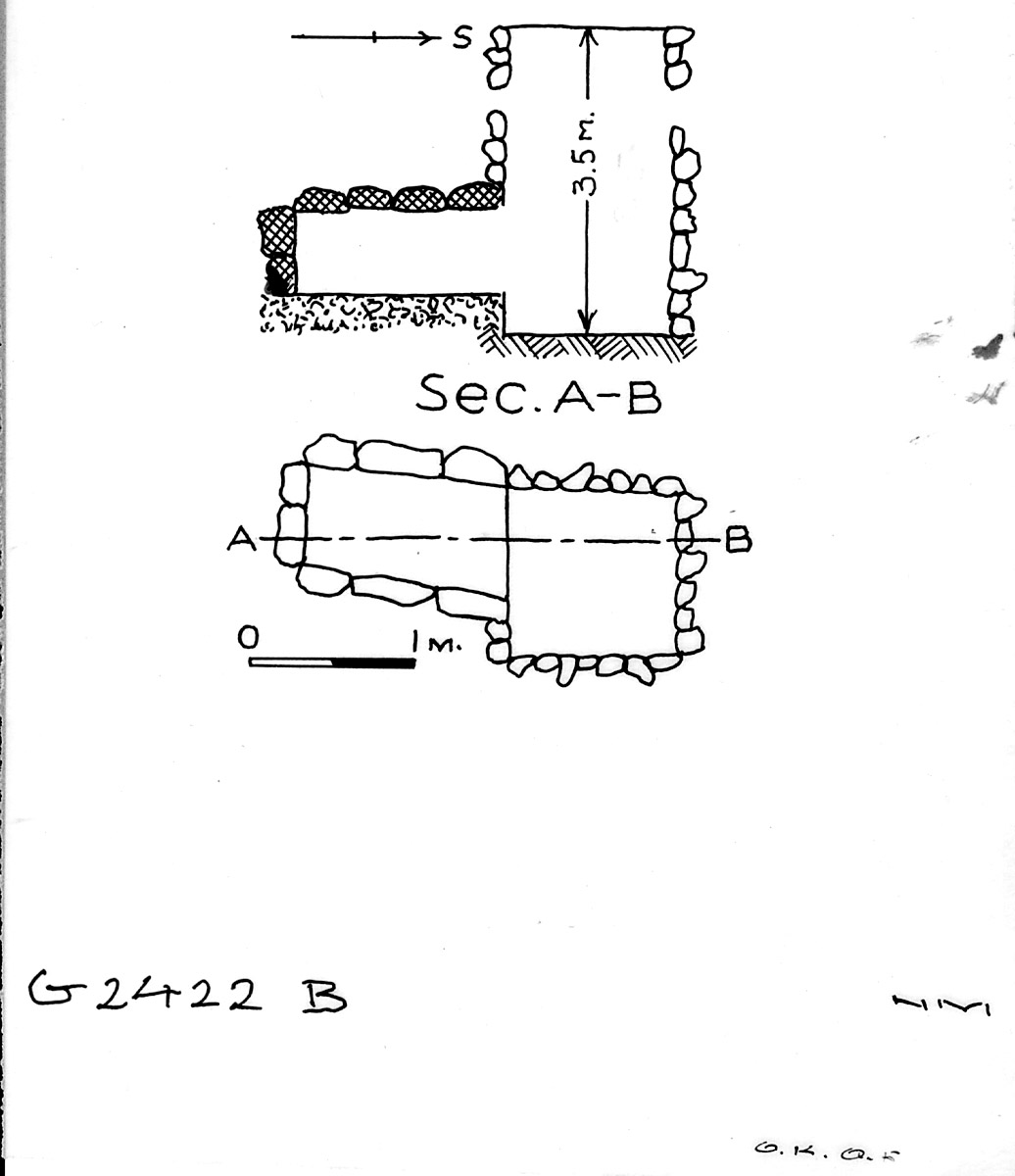 Maps and plans: G 2422, Shaft B