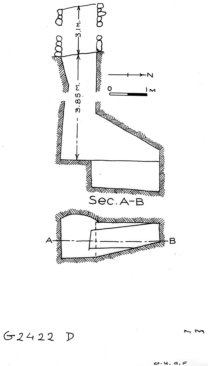 Maps and plans: G 2422, Shaft D