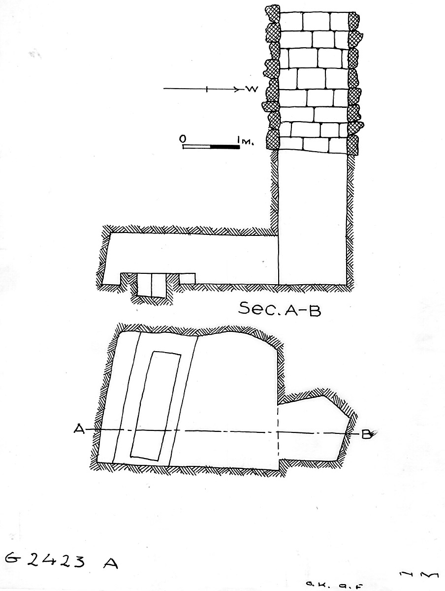 Maps and plans: G 2423, Shaft A