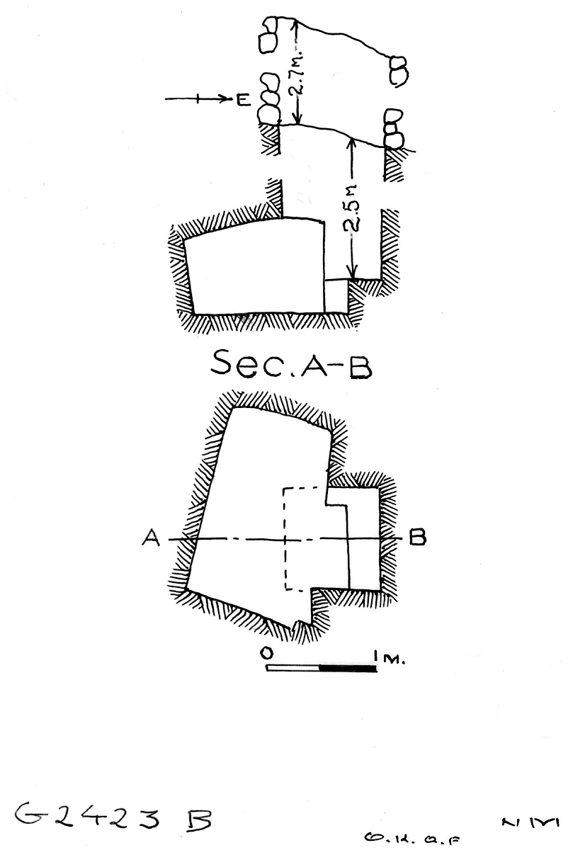 Maps and plans: G 2423, Shaft B