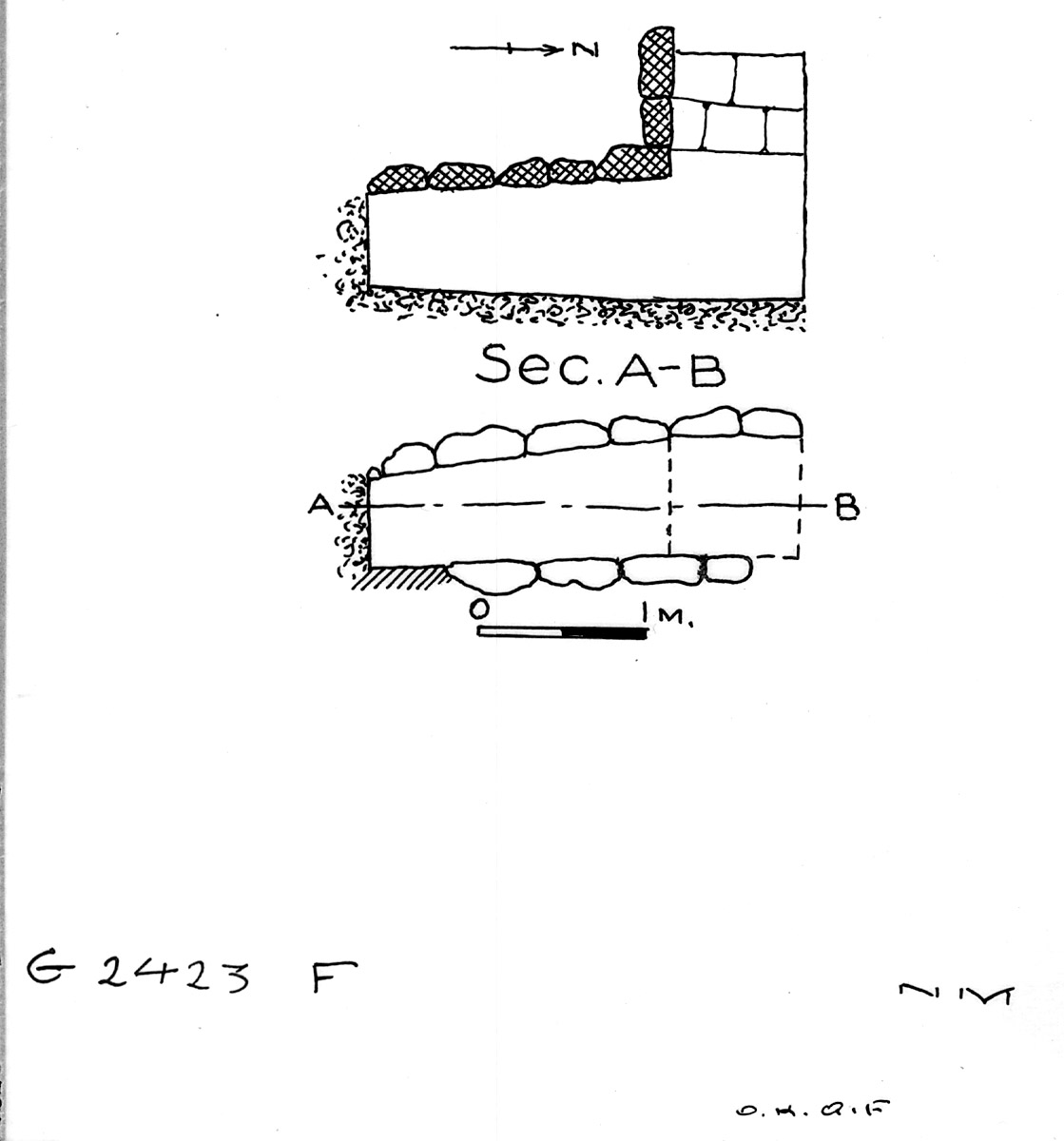 Maps and plans: G 2423, Shaft F