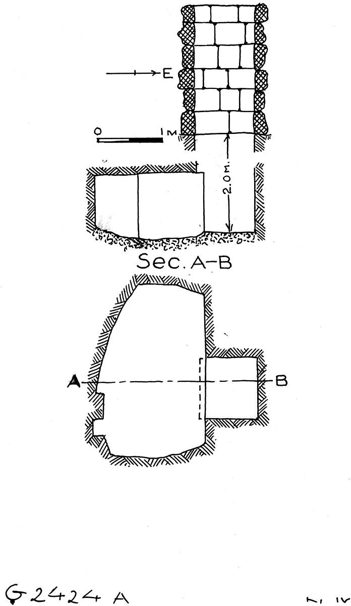 Maps and plans: G 2424+2425: G 2424, Shaft A