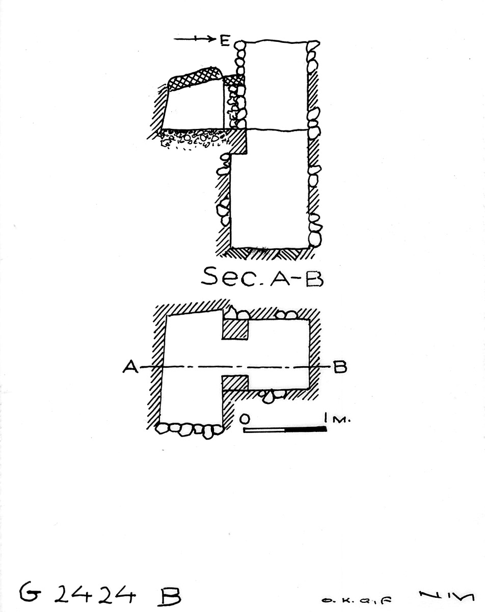 Maps and plans: G 2424+2425: G 2424, Shaft B